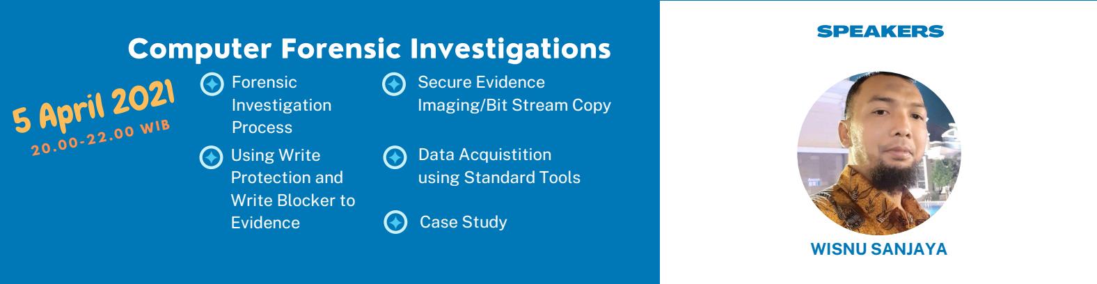 1. Computer Forensic Investigation (5 April 2021) - Biaya 100k